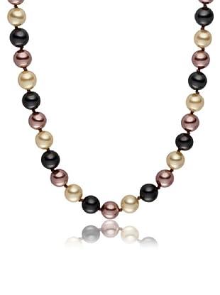 Pearls of London Kette South Seas/Tahiti Shell dunkelgrau/elfenbein/creme