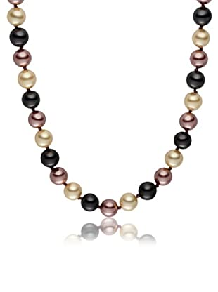 Pearls of London Kette  dunkelgrau/elfenbein/creme