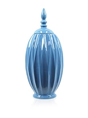 Urban Trends Collection Ceramic Jar with Lid, Light Blue