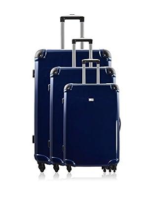 Potiron 3er Set Hartschalen Trolley Airline dunkelblau