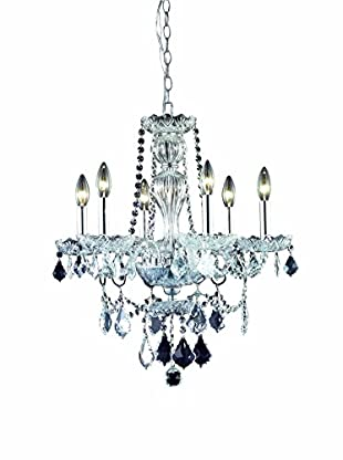 Crystal Lighting Giselle 6-Light Chandelier, Chrome