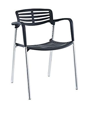 Modway Fleet Stacking Chair (Black)