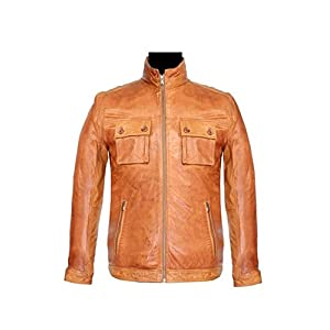 Bareskin Men's Leather Jacket - Tan
