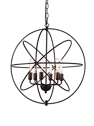Urban Lights Vienna 6-Light Pendant Lamp, Dark Bronze