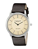 Stuhrling Original Classic Analog Champagne Dial Men's Watch - 238.321K43