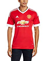 adidas MUFC H Polyester Football Jersey, Men's X-Large (Red)