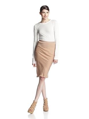 Rick Owens Women's Seamed Skirt (Peony)