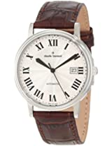 Claude Bernard Men's 80084 3 AR Classic Automatic Silver Dial Brown Leather Watch