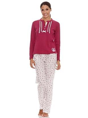Kiff-Kiff Pijama Largo Combi Mujer (Multicolor)