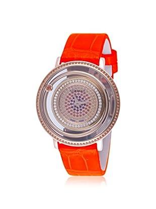 Versace Women's VFH090013 Venus Diamond & Poppy Topaz Orange Alligator Leather Watch