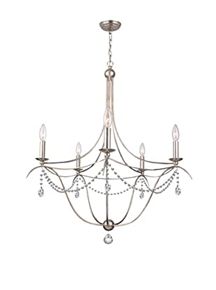 Gold Coast Lighting Chandelier with Hand-Cut Crystals, Chrome