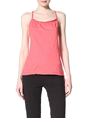 alo Sport Women's Shirred Relax Tank (Riot Pink)