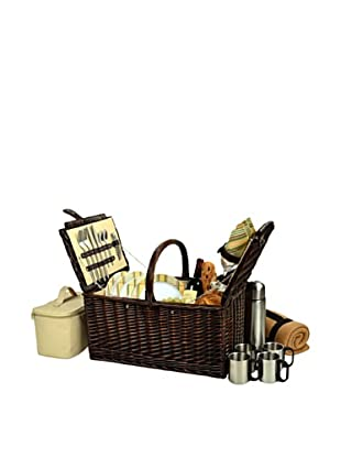 Picnic at Ascot Buckingham Basket for Four with Blanket & Coffee Service, Hamptons