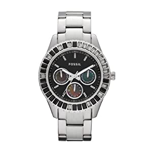 Fossil End of Season Chronograph Black Dial Women's Watch - ES2957