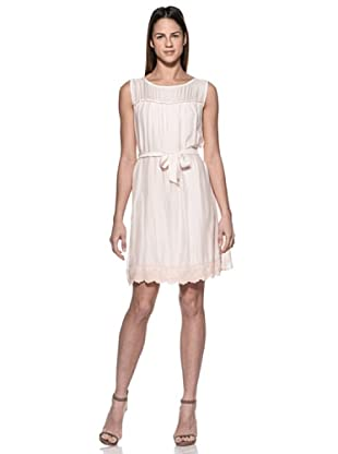 Crema Vestido Charleston (Rosa)