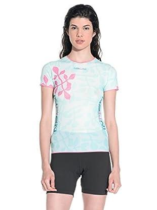 NALINI Funktionsshirt Shelby himmelblau/pink