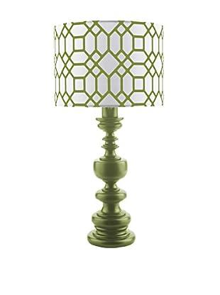Surya Wilson Outdoor Table Lamp, Green