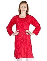 Castle Women's Cotton Kurta (BDB41380_XL, Red, X-Large)