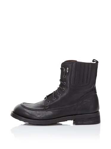 I.AM Men's Leather Lace-Up Boot (Black)