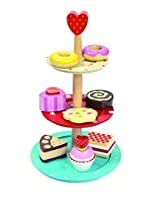 Le Toy Van 3 Tier Cake Stand Set with Wooden Desserts