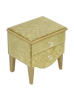 Three Hands Gold Mirrored Jewelry Box