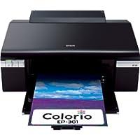 Colorio インクジェットプリンタ 6色染料インク EP-301
