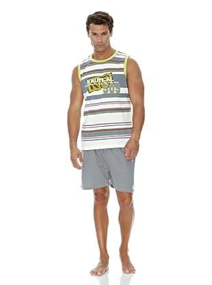 Monthalt Pijama Sport Estampado Bordado (Gris)
