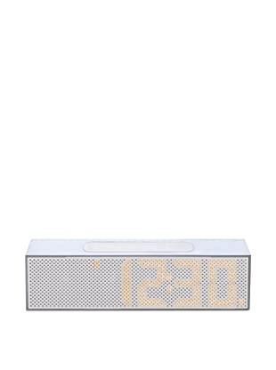 Lexon Titanium LED Clock Radio, White