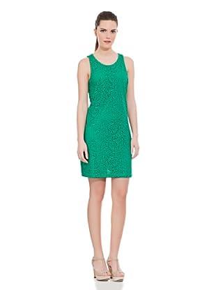 Cortefiel Vestido Bordado Fantasía (Verde Oscuro)