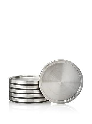 BergHOFF 6-Piece Geminis Coaster Set, Silver