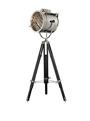 Artistic Lighting Curzon 1-Light Floor Lamp, Chrome/Black