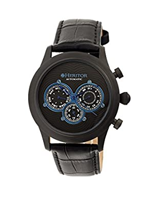 Heritor Automatic Uhr Earnhardt Herhr3105 schwarz 46  mm