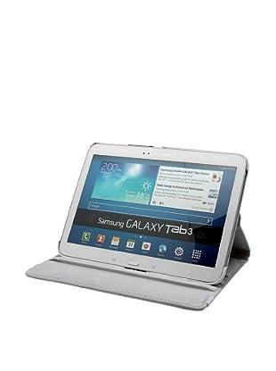 Unotec Funda Polipiel Rotación Galaxy Tab3 10 Pulgadas Blanco
