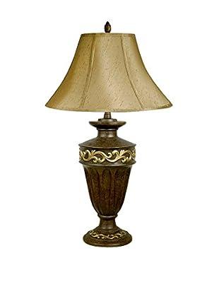 ORE International Filigree 1-Light Table Lamp, Brown/Gold