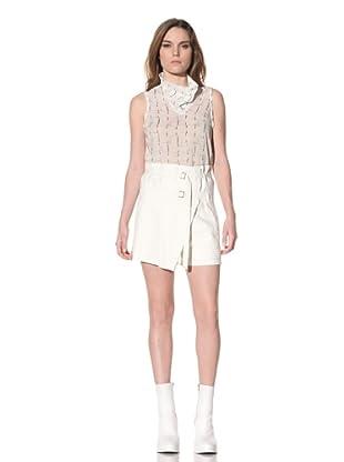 Ann Demeulemeester Women's Silk Short (Off-White)