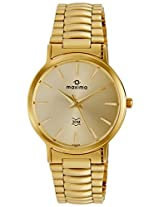 Maxima Formal Gold Analog Gold Dial Men's Watch - 04608CMGY