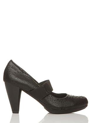 Rizzo Zapatos Calado Elástico tico (Negro)