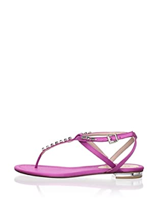Schutz Women's Satin Thong Sandal with Jewels (Royal Lilac)