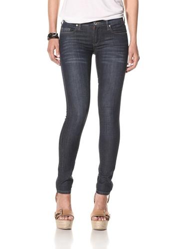 Blank Women's Spray On Skinny Jeans (Medium blue)