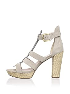 Rosegold Women's Pana Platform Sandal (Light Taupe Suede/Antique Silver Snake)