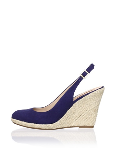 Schutz Women's Espadrille Slingback Wedge (Blueprint)