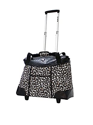 Olympia USA Deluxe Fashion Rolling Tote, Cheetah