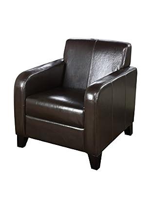 Armen Living Leather Club Chair, Brown