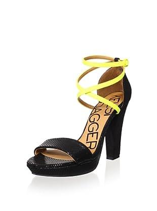 Kelsi Dagger Women's Mackenna Ankle-Strap Sandal (Black)