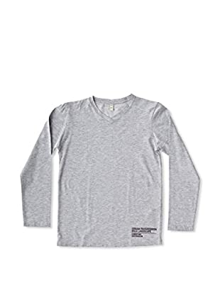 New Caro Camiseta Manga Larga Pico Niño (Gris)