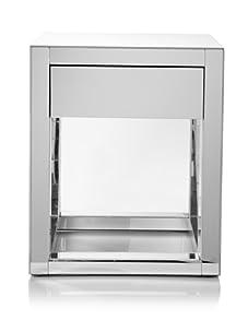 Mandrel Mirror Table, Silver