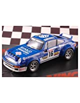 "Ninco Porsche 934 SC Rally ""Kenwood"" Slot Car Blue/white"
