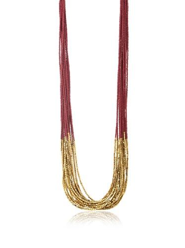 La Croix Rousse Multi-Strand Necklace, Gold/Rose