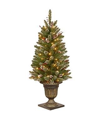 National Tree Company 4' Glittery Mountain Spruce Entrance Tree