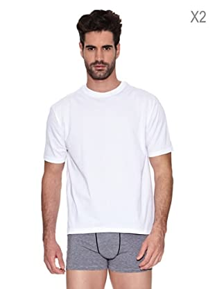 Dim Pack X 2 Camiseta Cuello (Blanco)